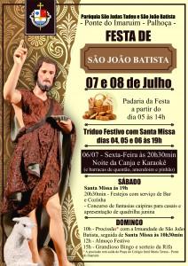 Cartaz da Festa SJB