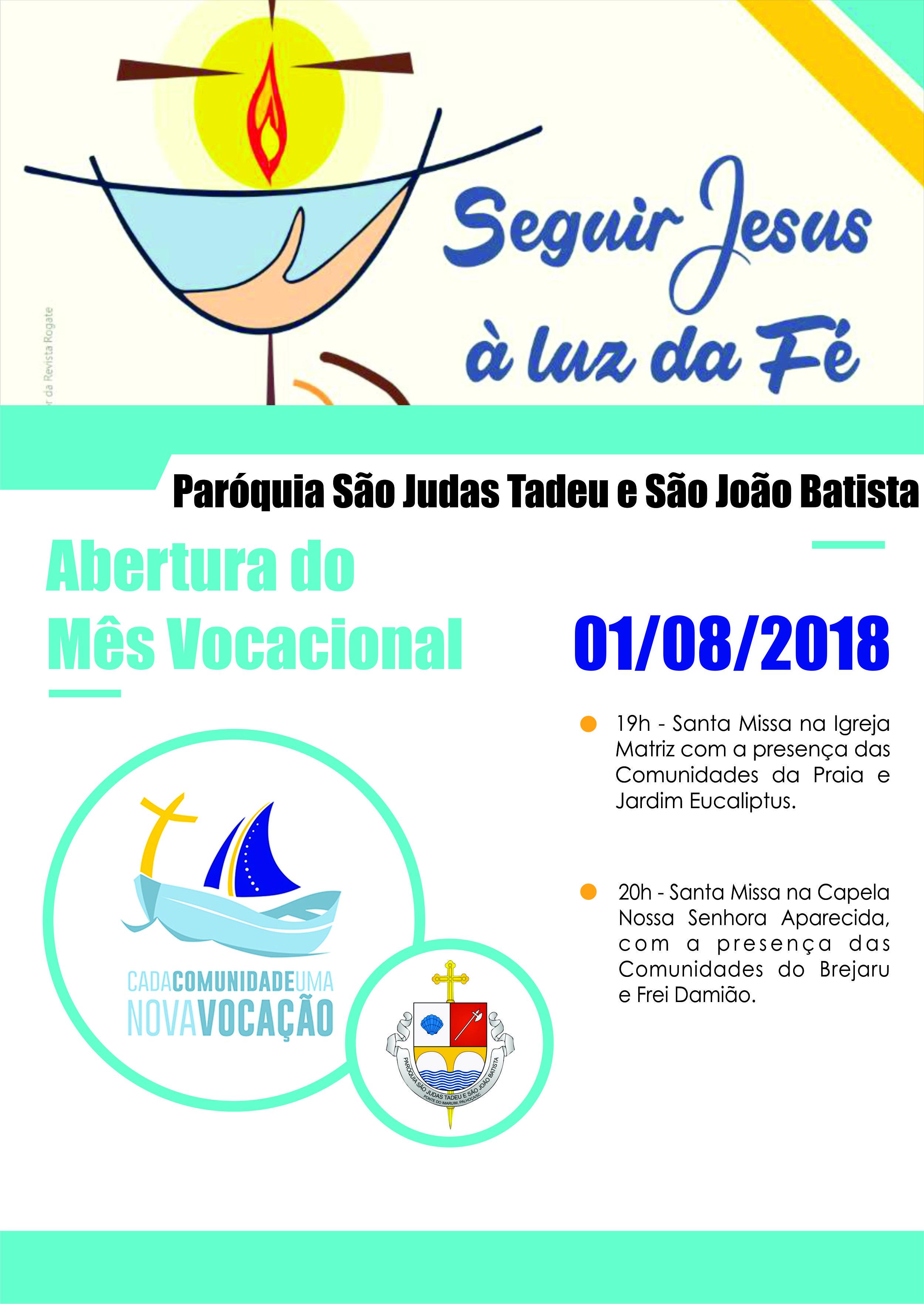 Abertura do Mês Vocacional e Dia de Oração pelas Vocações