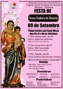 Cartaz da Festa Brejaru