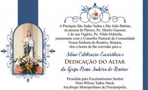 Convite Dedicação Igreja - Brejaru